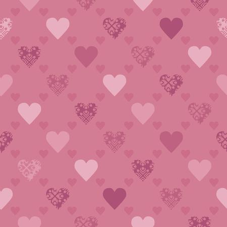 Pink hearts - Valentine theme background