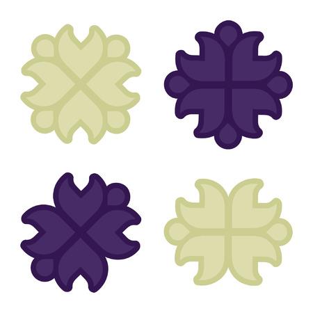 Set of rustic blossoms - vector illustration Illustration