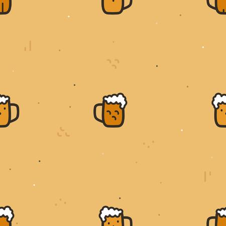 A glass of beer - vector background Ilustração