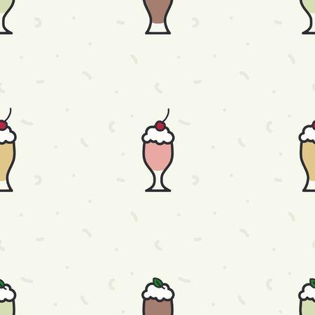 Various milkshakes - vector background