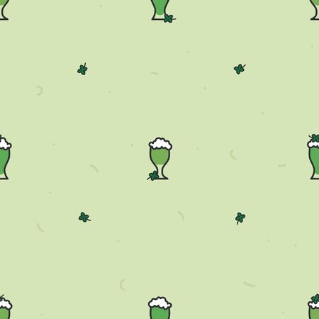 Saint Patrick's green beer - vector background