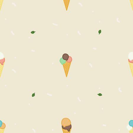 Ice cream cones - vector background Ilustração