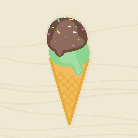 Ice cream cone - vector illustration