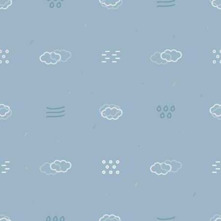 Winter storm symbols - vector background Ilustração