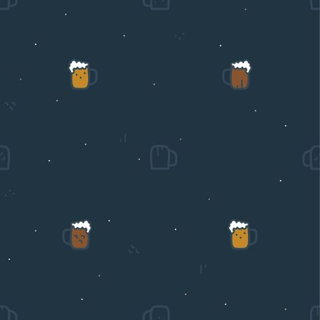 A glass of beer on a dark background - vector background