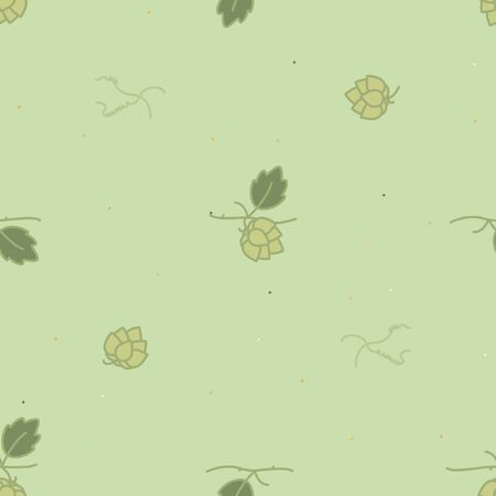 Hop cones background - vector background