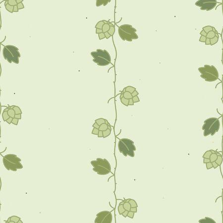 Hop plant on a light green - vector background Ilustração
