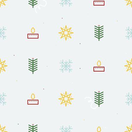 Christmas symbols background - vector background