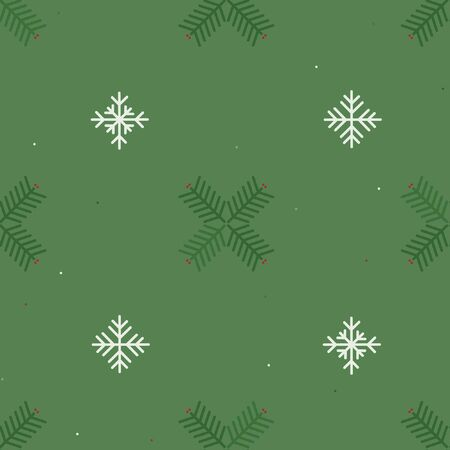 Spruce twig and snowflake - Christmas theme background