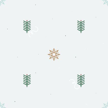 Star and fir twig - Christmas theme background Ilustração