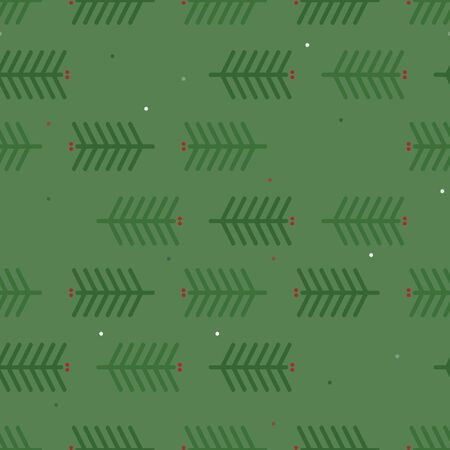 Simple spruce twigs - vector background