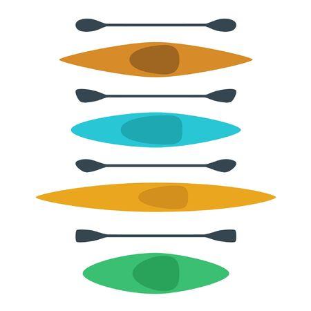 Various kayak set - vector illustration 일러스트