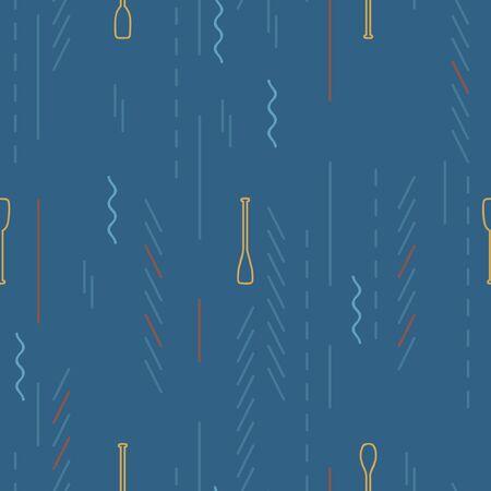 Outline paddle on a dark blue background - vector background 일러스트