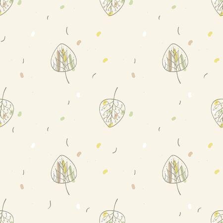 Hand drawn leaf - vector background