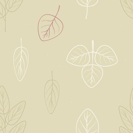 Hand drawn leafs - vector background 스톡 콘텐츠 - 131423802