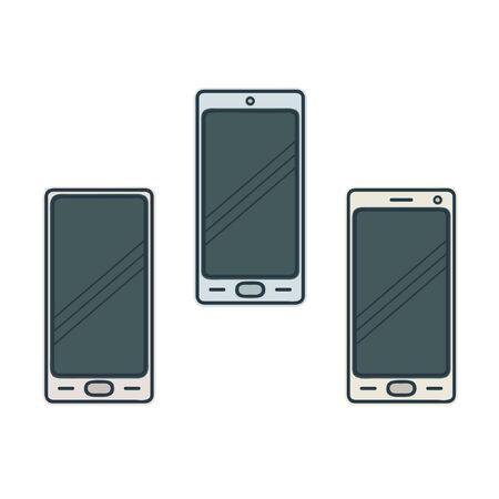 Smartphones set - vector illustration