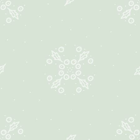 Holly tree decoration - vector background
