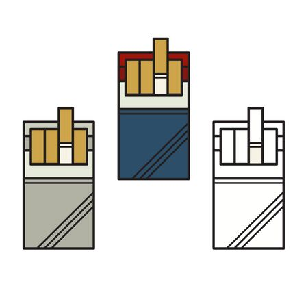 Set of cigarette packs - vector illustration