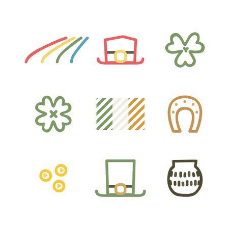Saint Patrick's symbol set - vector illustration