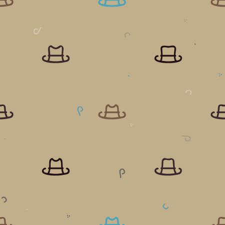 Outline hats background - vector background Ilustrace
