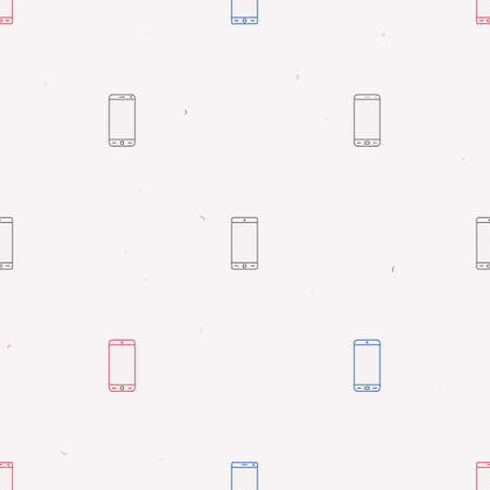 Outline smartphones on a white background - vector background Ilustrace
