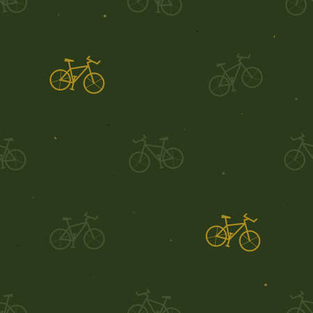 Mountain bike silhouette background - vector background Ilustrace