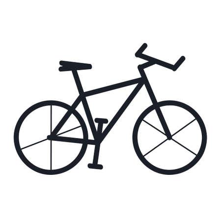 Mountain bike silhouette - vector illustration
