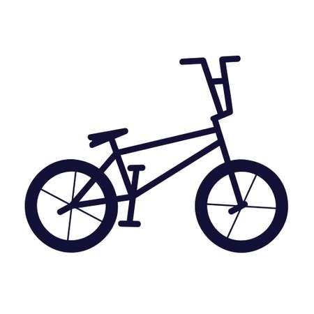 Freestyle bike silhouette - vector illustration 일러스트