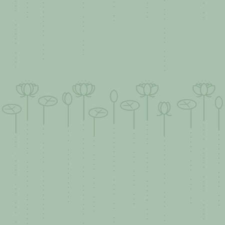 Water lily flower background - vector background