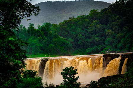 A Monsoon Waterfall In The Indian Mountains.