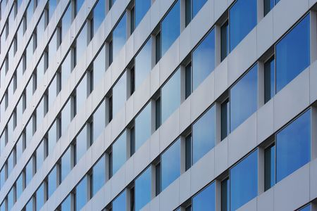 fanlight: reflect of the sky on buildings windows Stock Photo