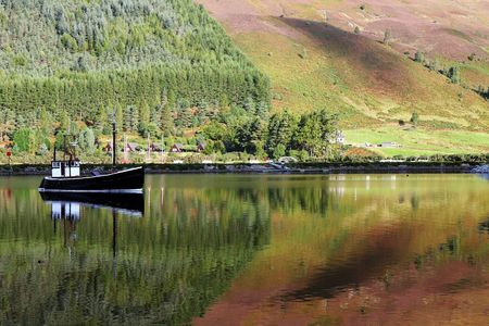 scot: boat on loch