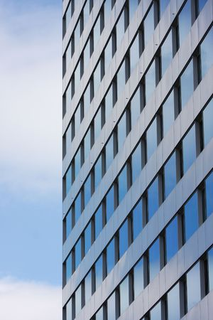 fanlight: reflection of the sky on the offices windows