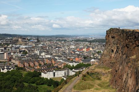 the crag: view of edinburgh from salisburys crag