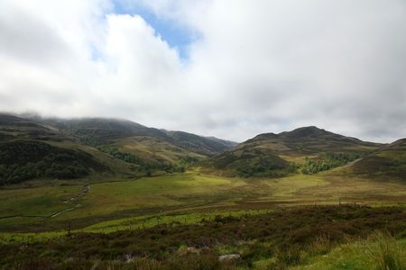 ness river: View on the highlands near the Loch Ness