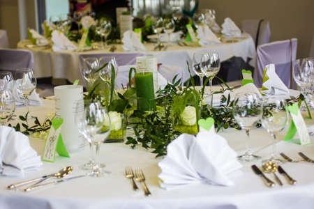 table decoration for wedding celebration