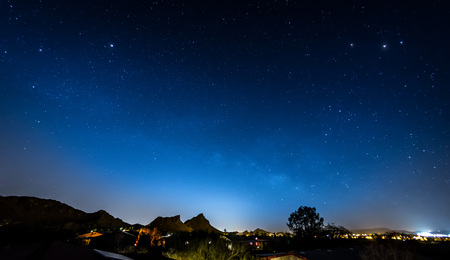 Blue Night Sky Stock Photo