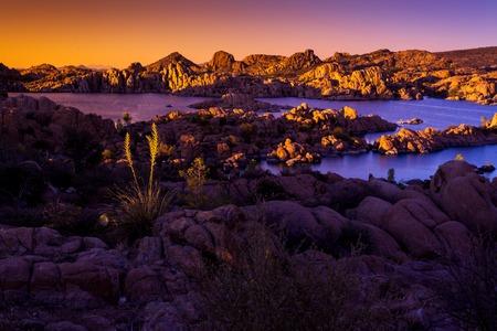 Watson Lake, Sunset, Rock Formations Recreation Prescott