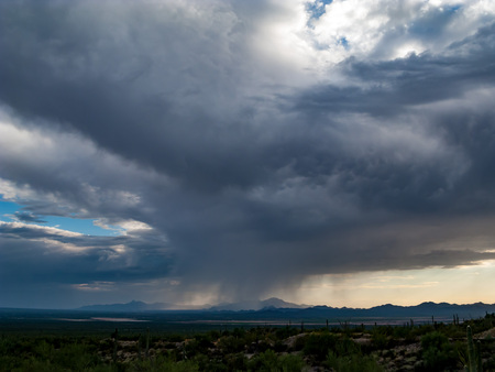 Monsoon Clouds and Sky Over the Southwest with Rainfall