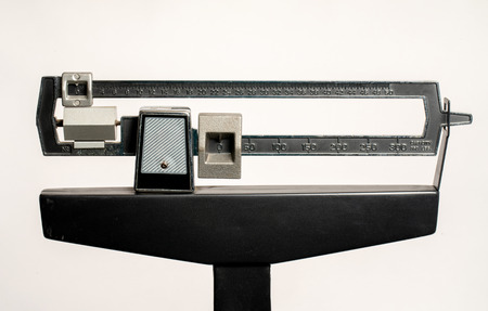 Medical Weight Scale isolated on white view of top part