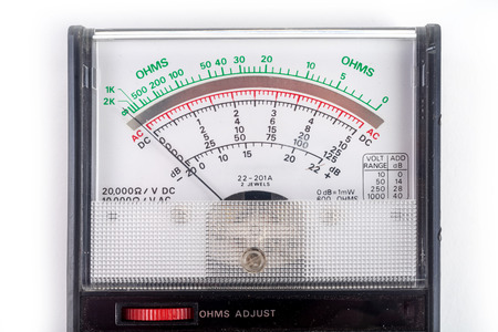 Analog multimeter, that combines several measurement functions in one unit. Vintage model