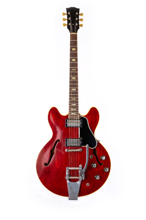 Electric Guitar, red, 6 String isolated on white