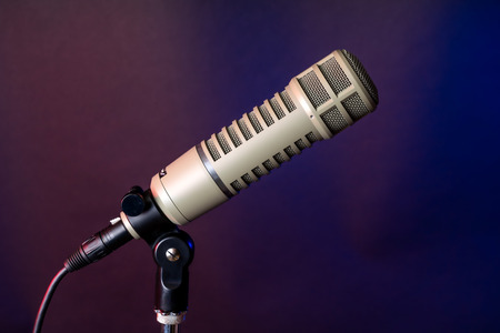 Professional microphone for radio and broadcast television announcer