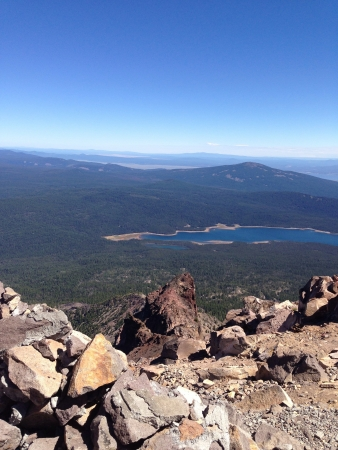 klamath: On top of mt. McLaughlin the highest peak in southern Oregon. Stock Photo