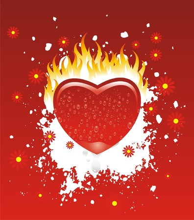 flamed: a heart totally flamed by the fire of passion and desire