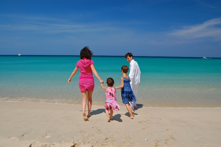Family beach fun Stock Photo - 9305736