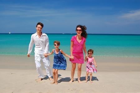 Family beach vacation photo