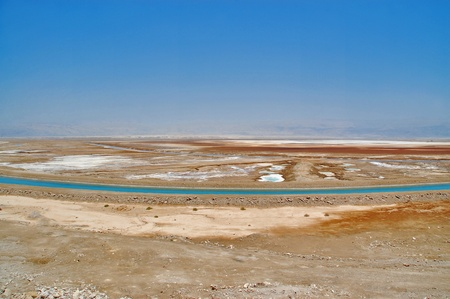 View of the Dead sea and desert, Israel photo