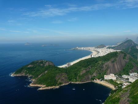 rio: View of Rio de Janeiro and Copacabana beach, Brazil