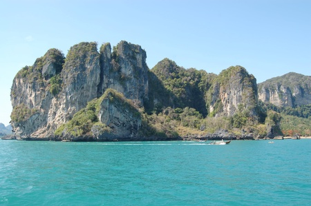 Limestone cliffs in Krabi province, Thailand photo